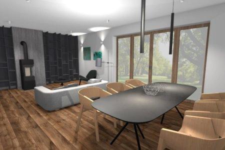 Projekt Wnętrza – Dom pod Lublinem #2